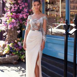 Blushing Bridal Boutique ,MillaNova, Silver, Blooming London, New Collection 2019 ,bridal-wedding-wedding gown-Mississauga-woodbridge-vaughan-toronto-gta-ontario-canada-montreal-buffalo-NYC-california