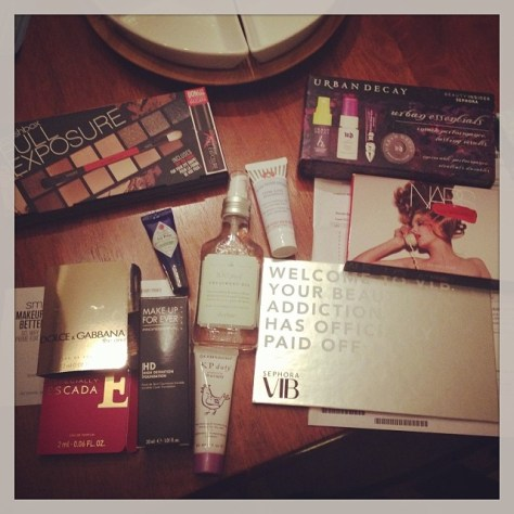 My purchases during the Sephora VIB sale in November 2013