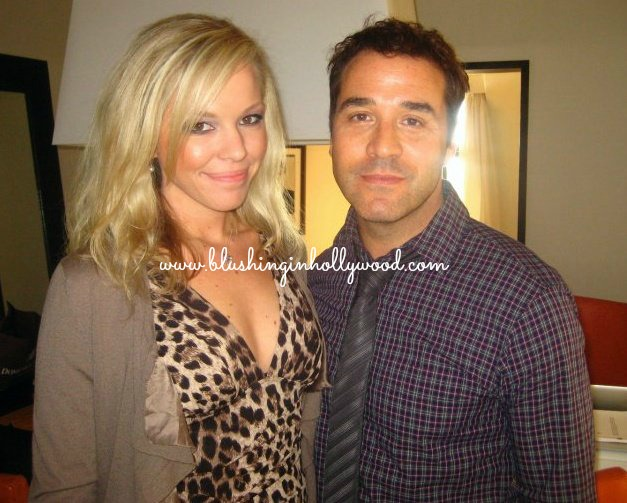 Me looking a bit ratchet with Jeremy Piven who looks less than thrilled at his house June 2010.