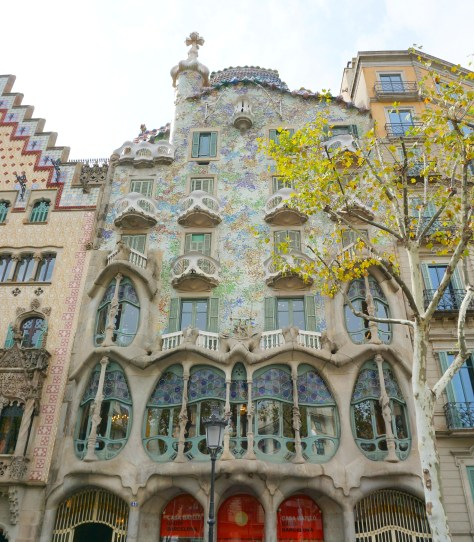 The beautiful Casa Battlo in Barcelona, Spain