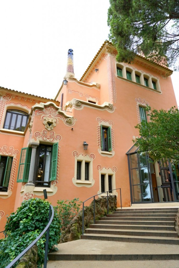 Antoni Gaudi's house in Park Guell in Barcelona, Spain