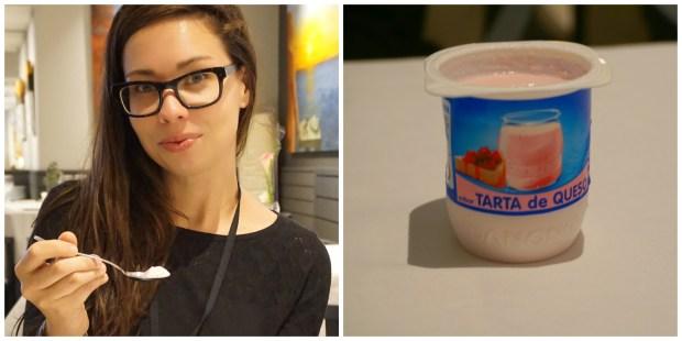 Tarta de Queso yogurt at Iris Restaurant at Hotel Estela in Sitges Spain