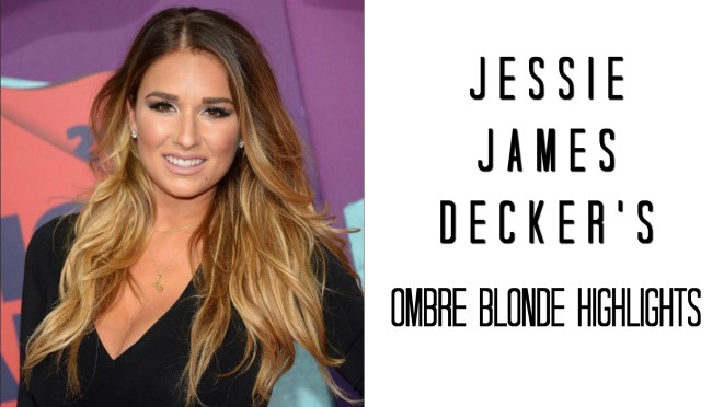 Jessie James Decker Ombre Blonde Highlights at Home