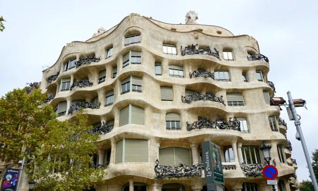 La Pedrera by Gaudi in Barcelona, Spain