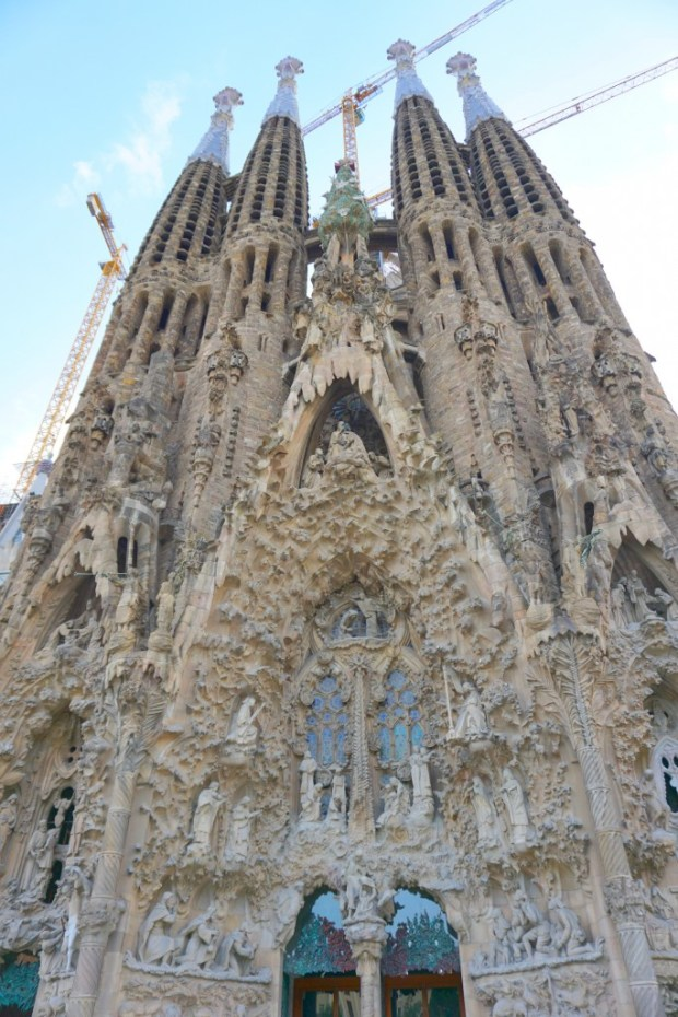 La Sagadra Familia is a church designed by Gaudi in Barcelona. It takes your breath away in person.