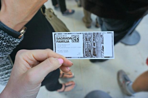 Ticket to La Sagadra Familia in Barcelona Spain