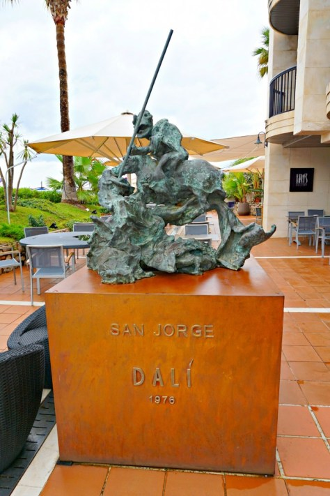 San Jorge by Dali on the Hotel Estela Iris Restaurant patio