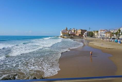 San Sebastian Beach in Sitges Barcelona Spain