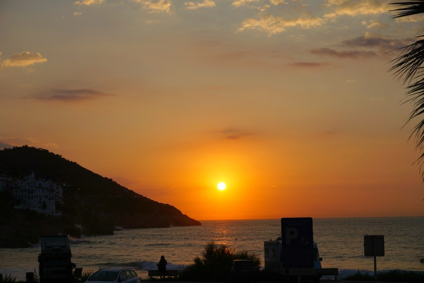 Sunrise in Sitges, Spain