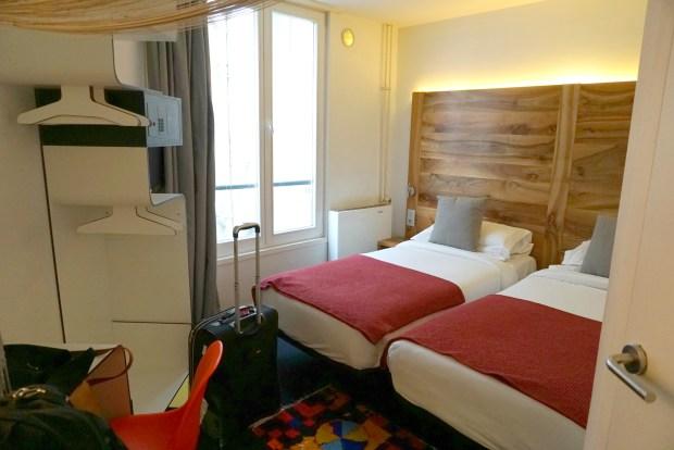 A room in the Maxim Folies boutique hotel in Paris