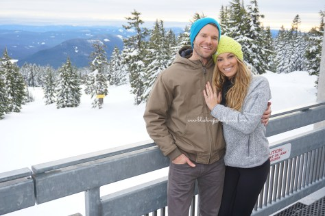 My sister and her fiancé Josh at Timberline Lodge. Are they the cutest couple ever or what?