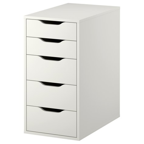 ikea-alex-5-drawer-vanity-unit-white-makeup-storage