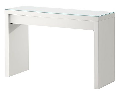 The IKEA MALM Dressing Table can be used as a vanity especially if you don't have a large makeup collection