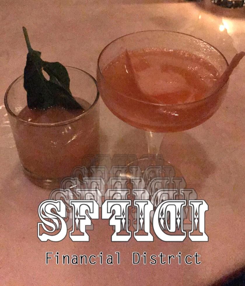 Craft cocktails from Local Edition an underground Speakeasy in San Francisco