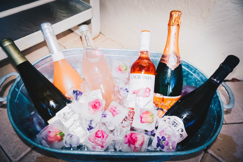 champagne-flower-ice-cubes-2