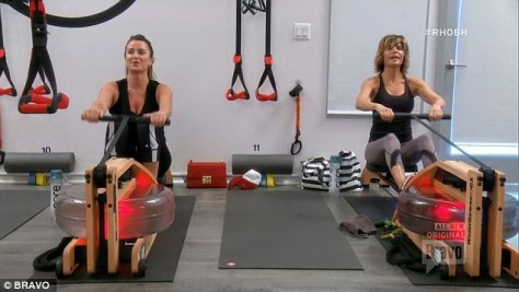 kyle-richards-lisa-rinna-lit-method-rowing-workout