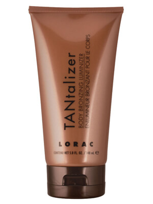 LORAC TANtalizer Body Bronzing Luminizing lotion for a temporary tan that washes off in the shower