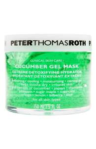 Peter Thomas Roth Cucumber Gel Mask is an extreme detoxifying hydration mask.