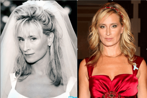 Sonja Morgan at her wedding vs. now, WOW!