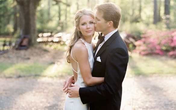 Cameran Eubanks from Southern Charm with her husband Jason Wimberly on their wedding day.