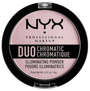 NYX Duo Chromatic Illuminating Powder Highlighter in Lavender Steel