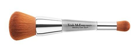 Trish McEvoy Wet Dry Dual Ended Brush is great for foundation and concealer.