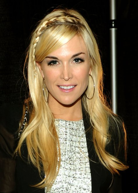 Tinsley Mortimer with her long wavy cut and cute braid.