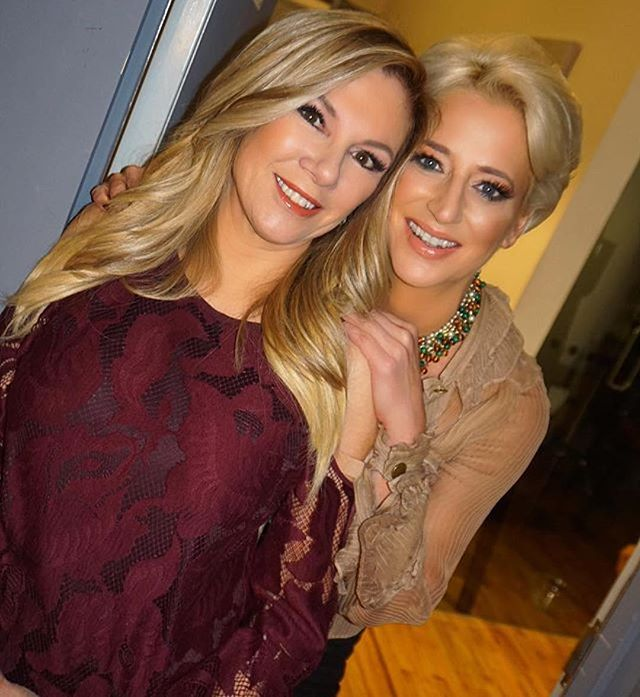 Ramona Singer and Dorinda Medley from Real Housewives of New York City with makeup by Prsicilla