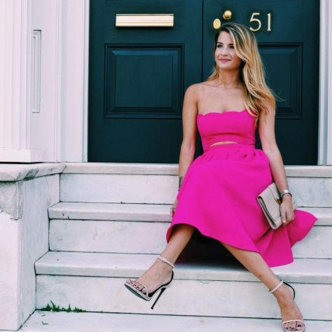 Naomie Olindo from Southern Charm always looks pretty in this hot pink color