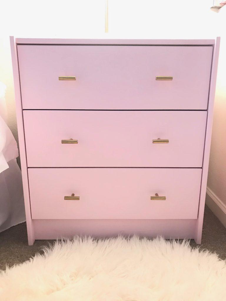 My DIY IKEA RAST pink nightstand!