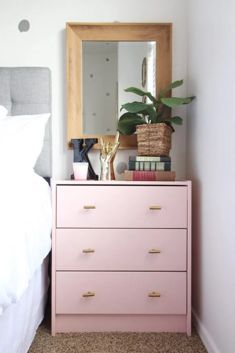 IKEA Rast Nightstand from the Classy Clutter blog