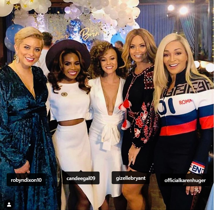 The Real Housewives of Potomac at Andy Cohen's Baby Shower at The Palm in Beverly Hills