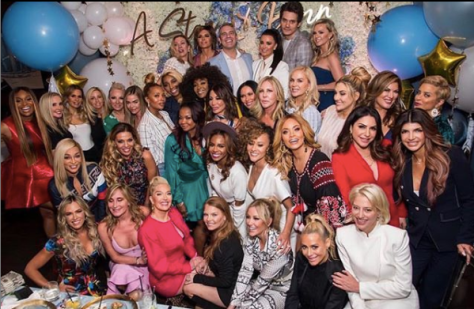 andy cohens baby shower group photo of real housewives