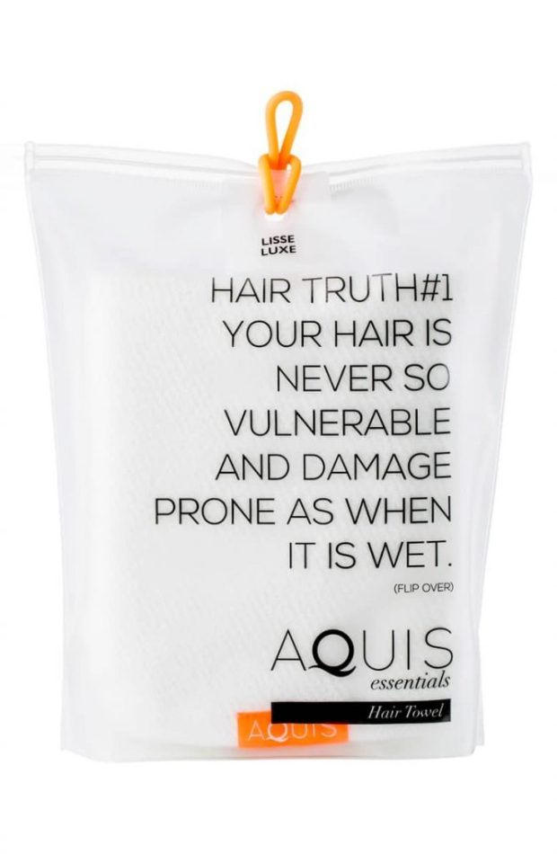 AQUIS Lisse Luxe Desert Rose Hair Towel
