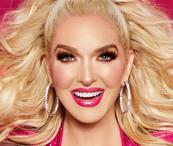 """Erika Jayne with the more glam and stage ready """"Club Queen"""" look with her Too Faced Pretty Mess Makeup Collection."""