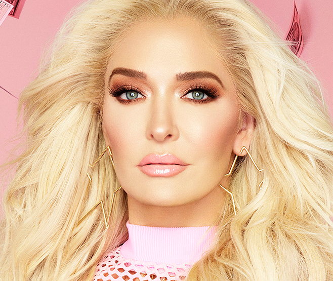 "Erika Jayne in the ""housewife"" look with her Too Faced Pretty Mess collection. This is her more natural, daytime, subdued yet beautiful and glamorous look."