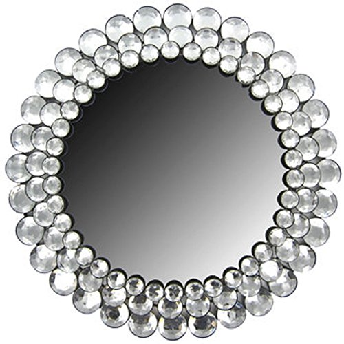 Round Crystal Rhinestone Mirror