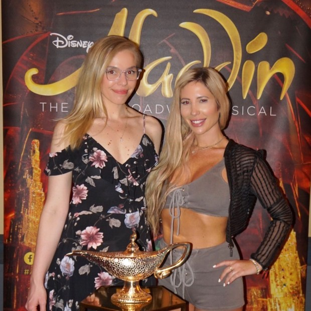 Me and my friend Rachel at Aladdin at the Pantages Theater