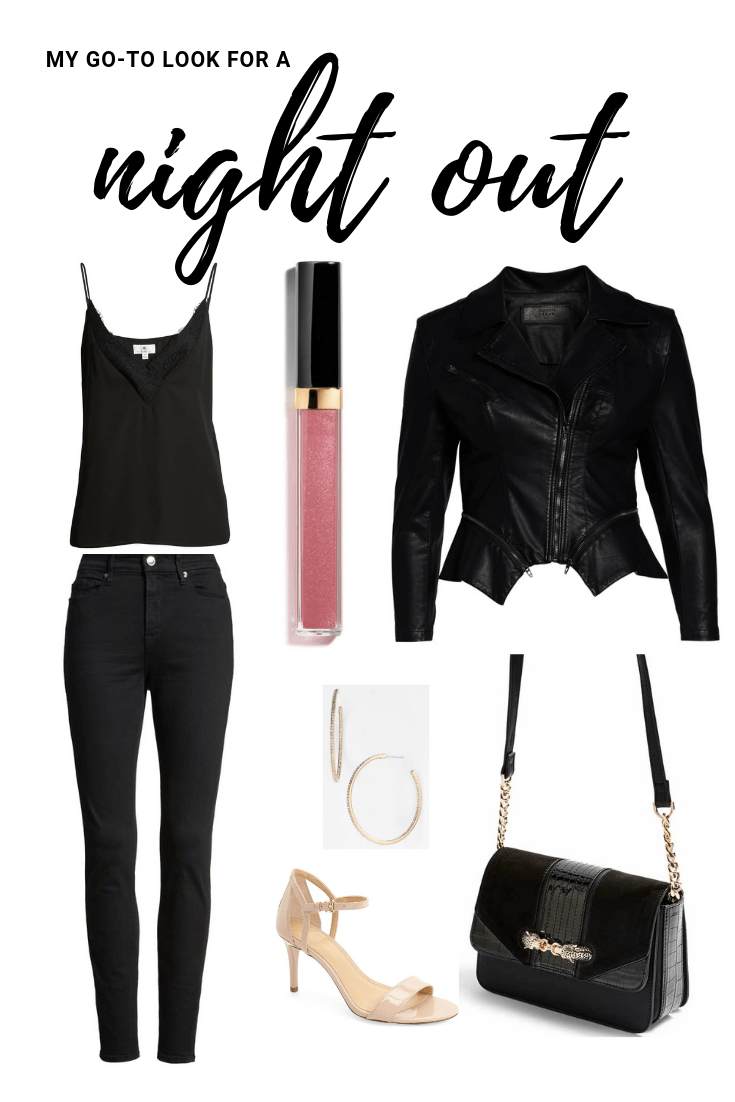 This going out outfit is a comfortable and easy look to wear as a first date outfit, an outfit to wear to a party, an outfit to wear to a bar, an outfit to wear to dinner with friends, etc.!
