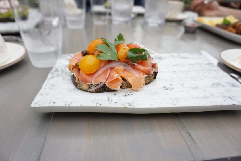 Salmon Toast at The Highlight Room in Hollywood copy