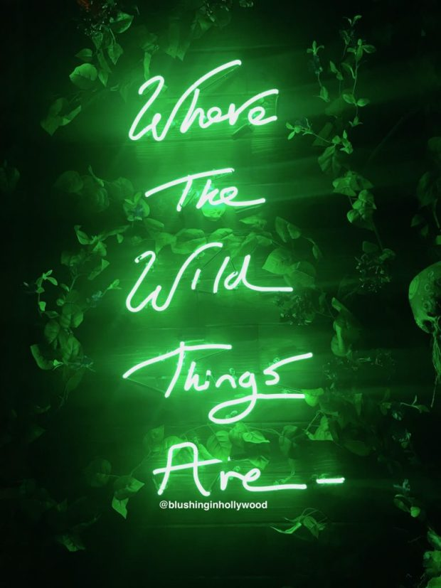 Where the Wild Things Are Neon Sign at Lono Hollywood