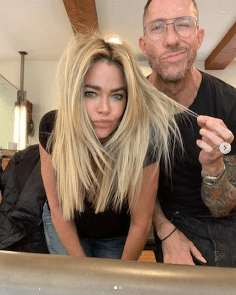 Denise Richards Blonde Highlights and Long Layers by Celebrity Hairstylist Chris McMillan