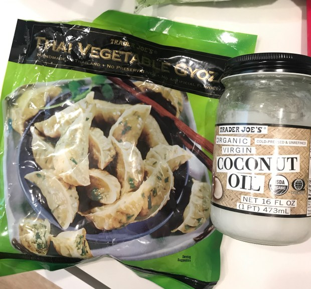 Trader Joe's Thai Vegetable Gyoza and Coconut Oil
