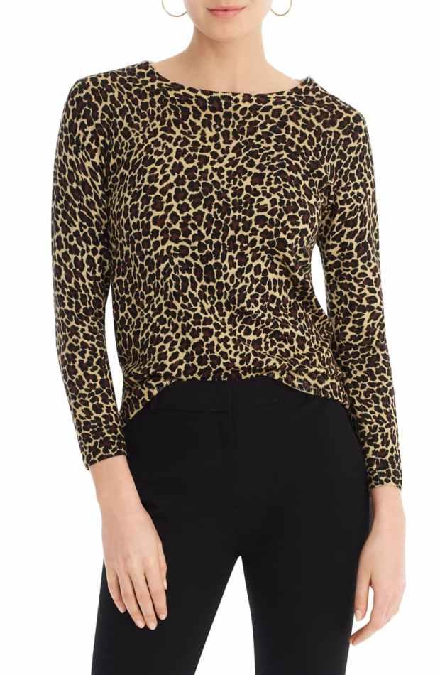 J. Crew Tippi Leopard Merino Wool Sweater