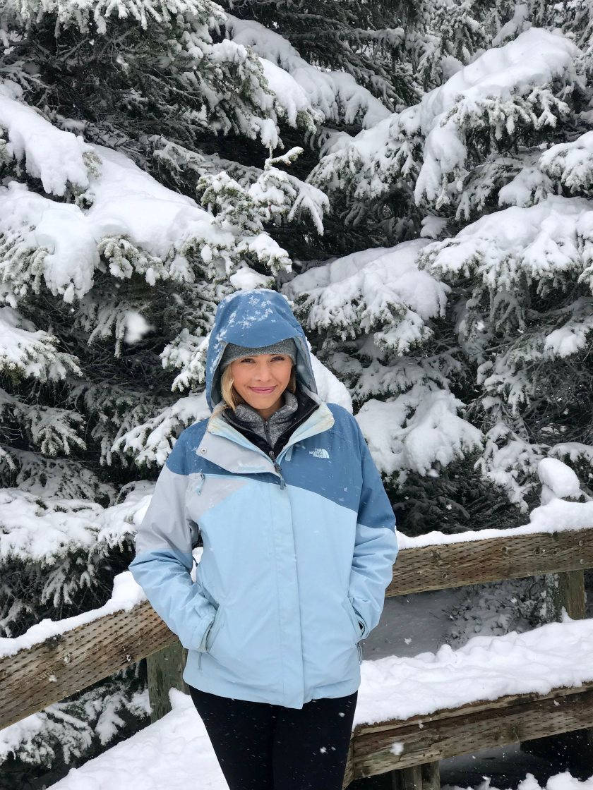 Photo of @blushinginhollywood taken at Pesto Lake in Banff, Canada on June 20, 2019 - isn't this supposed to be summer!? Yet it was snowing like crazy!