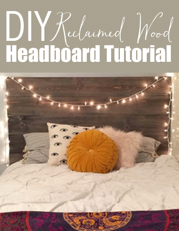 Affordable DIY Reclaimed Wood Headboard Tutorial
