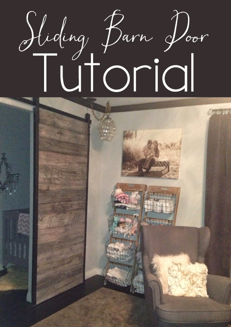 Affordable DIY Distressed Sliding Barn Door Tutorial