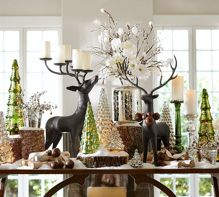 pottery barn christmas 4 dining table scape