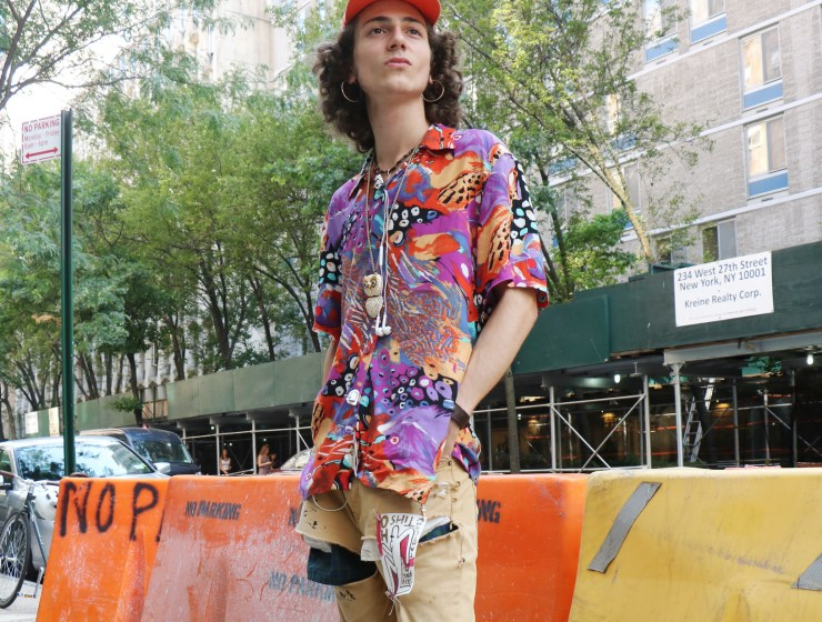 Dorian Munaco in his street style outfit