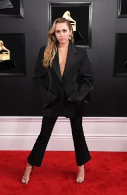 Miley Cyrus at the Grammys